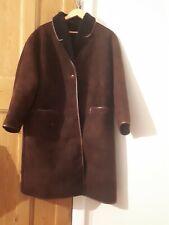 Mens Brown Sheepskin Fur Lined Coat Size 42