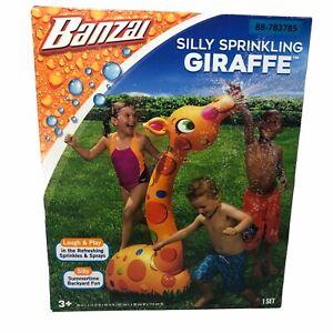 Banzai Silly Sprinkling Giraffe Summertime Backyard Fun Water Toy Spray 3+ Years