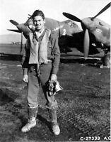 WW2 WWII Photo USAAF P-38 Lightning Fighter Pilot 14th FG World War Two / 5371