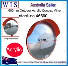 "600mm(24"") Outdoor Acrylic Traffic Mirror,Safety Mirror Outdoor Convex,160º Wide"