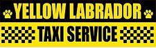 YELLOW LABRADOR TAXI SERVICE DOG STICKER