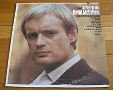David McCallum 1966 Capitol Mono LP Music - A Part Of Me  H.B. Barnum