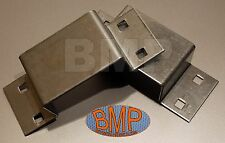 (8) BOLT ON STAKE TRAILER POCKETS 11 ga ZINC PLATED STEEL 1000105