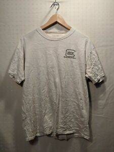 Vintage Glock Shooting Sports Shortsleeve Shirt Men's White