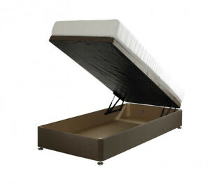 SINGLE 3FT OTTOMAN STORAGE BED WITH FREE STOOL IN CRUSHED VELVET NEW CHEAP