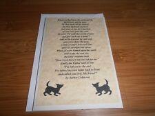 Handmade Pet Dog Sympathy Card