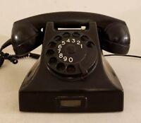 Rare 1957 Ruen Ericsson Art Deco European Bakelite Rotary Dial Telephone Phone