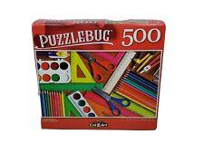 "Puzzlebug 500 Piece Jigsaw Puzzle ""SCHOOL SUPPLIES"" 18.25""x11"" Family Fun"