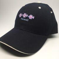 Hawaii Embroidered Blue Baseball Hat Cap Purple Blue Fish Strapback Wool Blend