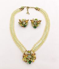 VINTAGE ROBERT CHOCKER NECKLACE AND CLIP EARRINGS SET