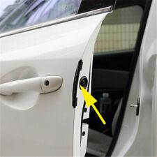 4Pcs Set Black Car Door Edge Guard Bumper Protector Moulding Strip Trim Decal US