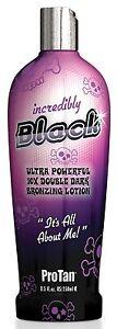 Pro Tan Incredibly Black 250ml Bottle Tanning Sunbed Cream Lotion Protan