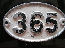 Original Reclaimed Cast Metal Alloy Oval Number, House, Gate, Workshop 365