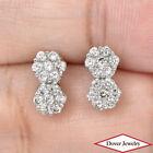 Estate Diamond 14K Gold Elegant Cluster Stud Earrings NR