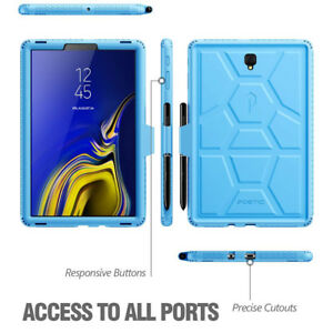Poetic Turtle Skin Protective Silicone Case Samsung Galaxy Tab S4 10.5 2018 Blue