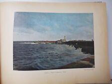 ALGERIE : Gravure 19° in folio couleur / PHARE DE L'AMIRAUTE A ALGER