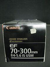 Canon EF 70-300mm f/4-5.6 IS USM AF lens 0345B002 New old stock brand new
