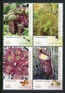 2013 Carnivorous Plants - MUH Block of 4
