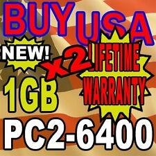 2GB KIT LOT 1GB X 2 DDR-2 DDR2 PC6400 PC2-6400 800 MHz DESKTOP MEMORY RAM