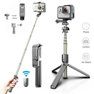 Universal Extendable Bluetooth Wireless Selfie Stick Tripod Foldable For iPhone