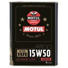 Motul 2100 15w50 2 lt Olio Motore auto e moto storiche semisintetico API SH/CF