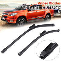 Front Windscreen Wiper Blades 22'' 18'' Rubber For Holden Colorado RG UTE