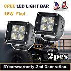 "2 x 4"" inch Cree LED Light Bar 18W Flood UTV Truck Work ATV Off-Road Fog Driving"