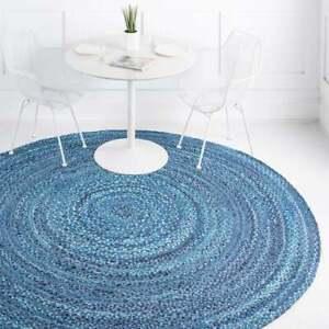 Rug 100% Natural Cotton Reversible modern rustic look area carpet home decor rug