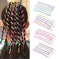 6x Set Girl's Children Fashion Crystal Long Striped Elastic Hair Band Hairwear