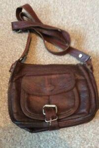 Gusti Leder Genuine Brown 100% Leather  Messanger genuine bag.