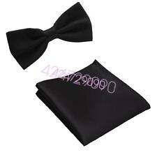 Party New Mens Bowtie Bow Tie Handkerchief Pocket Hanky Pre Tied Wedding YTZLJd