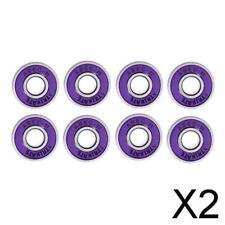 2X 8 608rs ABEC-11 Skateboard Bearing 8mm Longboard/Inline/Hockey/Roller Purple