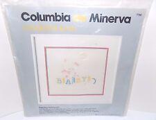 Columbia Minerva Candlewicking Bunny Baby Birth Sampler Kit (1981)