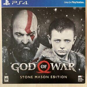 God of War Stone Mason's Edition (Playstation 4, 2018) • Factory Sealed FLAWLESS