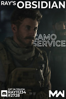 Obsidian Camo Service (ALL Weapons) [PS4 PC XBOX] Call of Duty: Modern Warfare