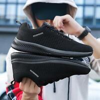 Men's Shoes Mesh Men Casual Shoes Lac-up Lightweight Comfortable Walking Tenis