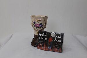 Decorative Arabian Bukhoor Incense burner Mabkhara Ceramic WITH FREE COAL