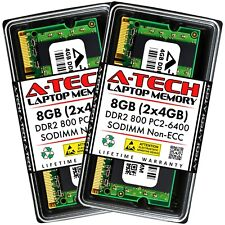 A-Tech 8GB 2 x 4GB PC2-6400 Laptop SODIMM DDR2 800 MHz Notebook Memory RAM 4G 8G