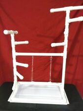 "42"" Tall 1"" PVC Macaw Perch  Stand  Swing  Play Gym w Pan **FREE SHIPPING!**"