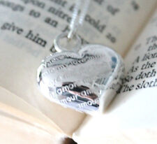 925 Sterling silver love/amore heart pendant and necklace