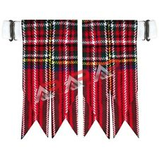 Brand New Royal Stewart Tartan Kilt Flashes with Heavy Buckle