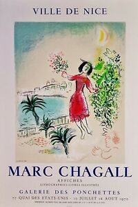 Marc Chagall Bay of Nice  Mourlot  Poster from 1970