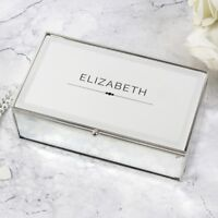 Personalised Mirrored Jewellery Box Engraved Jewellery Boxes Birthday Mother's