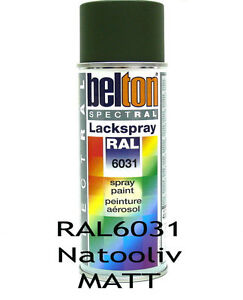 RAL 6031 Nato Oliv matt Lackspray Spray Sprühdose 400ml AutoK K324416