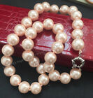 12mm+Pink+South+Sea+Shell+Pearl+Round+Gems+Beads+Necklace+18%22+AAA