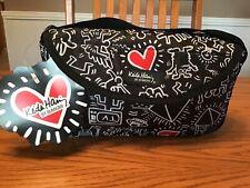New listing Nwt Keith Haring Bumkin Graffiti Heart Nylon Grande Bag Travel Case Wristlet~Htf