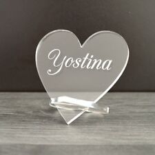 Table Name Personalised Wedding Place Cards Heart Placecards For Weddings Idea