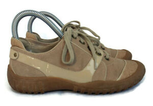 Cole Haan womens tan brown lace up fashion comfort sneakers size 6 B