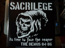 SACRILEGE - Time to Face the Reaper, Demos 84-86 2xLp kbd gism varukers   NEW
