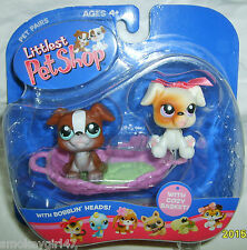 Littlest Pet Shop Pet Pairs Boxer Puppies/Dogs NIP 2005 Release Rare